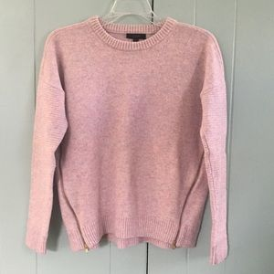J. Crew Lavender Wool Sweater with Zipper Sides